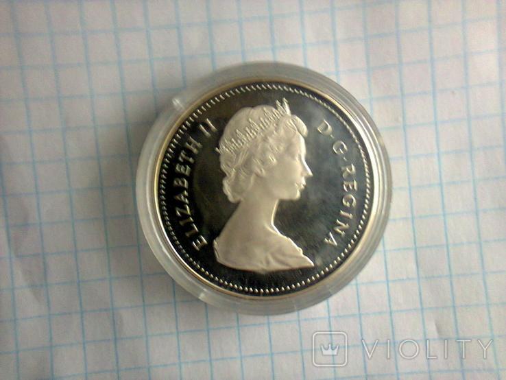 1 доллар, Канада, 1987 г., 400 лет открытию пролива Дейвиса, серебро, 0.500, 23.33 гр., фото №10