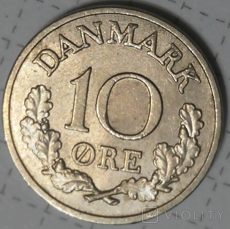Дания 10 оре 1965, фото №2