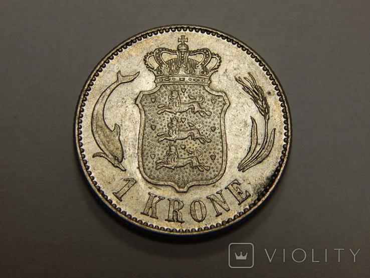1 крона, 1915 г Дания, фото №2