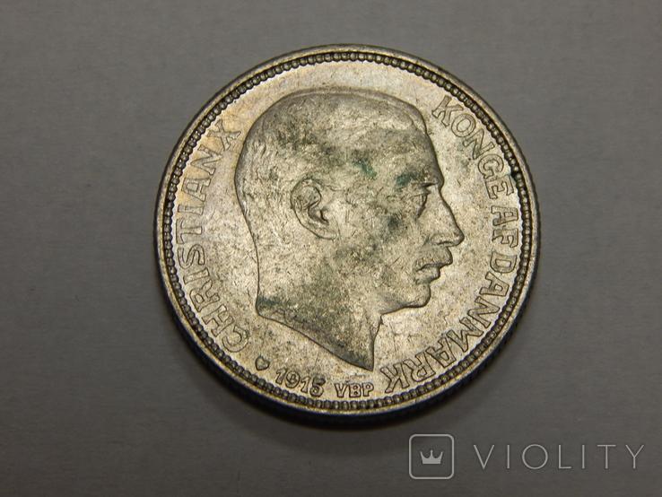 1 крона, 1915 г Дания, фото №3