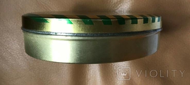 Металлическая коробочка из-под леденцов или халвы, период СССР, фото №4