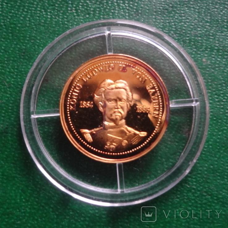 Король Баварии Людвиг 1864-1886 золото 1,55 г, фото №2