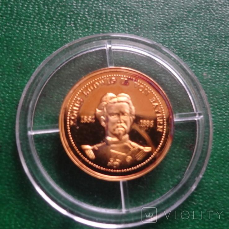 Король Баварии Людвиг 1864-1886 золото 1,55 г, фото №3