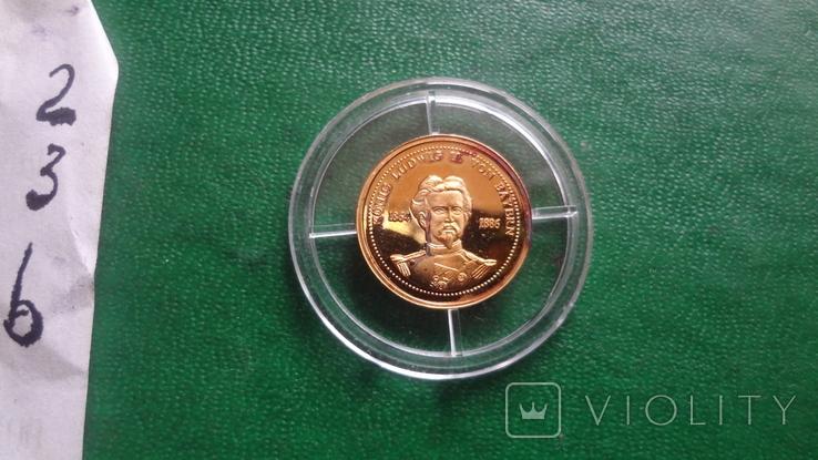 Король Баварии Людвиг 1864-1886 золото 1,55 г, фото №8