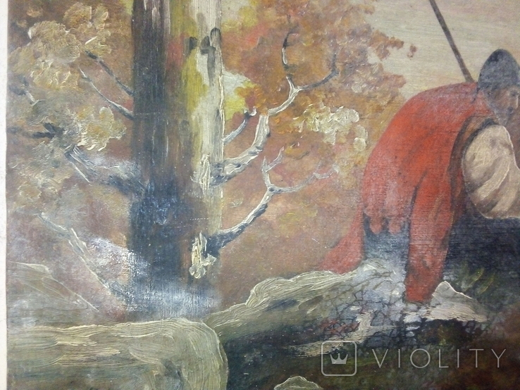 Картина козак і кінь. Репродукція., фото №3