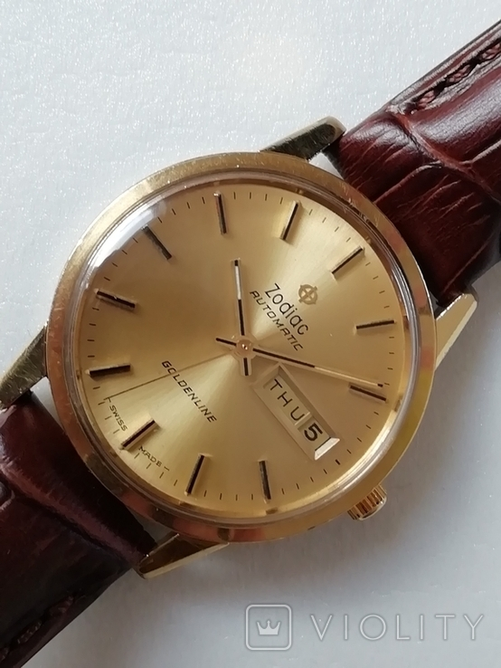 Часы Zodiac Automatic Goldenline, фото №3