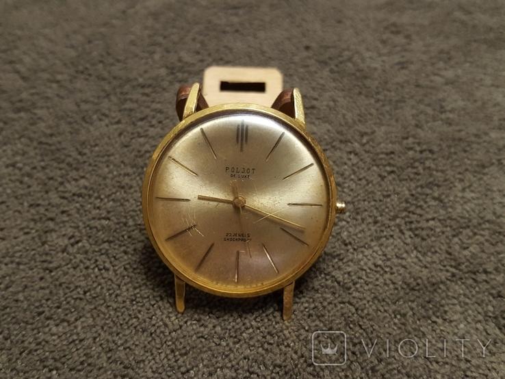 Позолоченные часы Полет де Люкс ау20 СССР