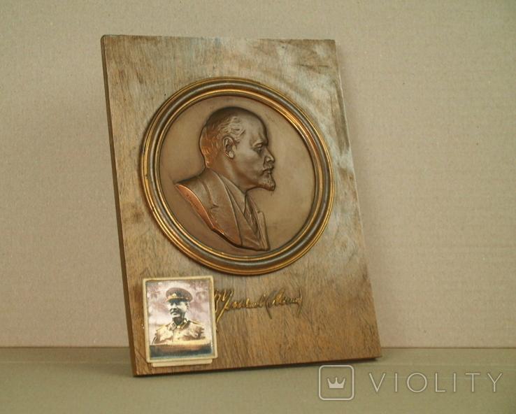 Картина Барельеф Портрет Сувенир Ленин Сталин, фото №3