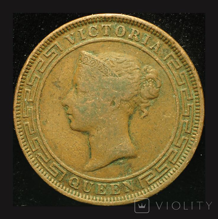 Цейлон 5 центов 1870, фото №3