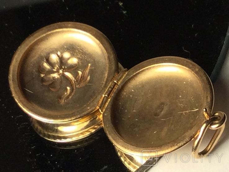 Кулон золотой 583 пробы вес 2,67 грамм, фото №4
