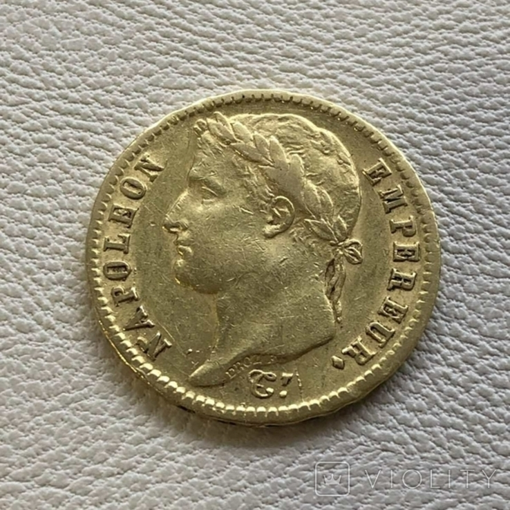 Франция 20 франков 1813 год 6,45 грамм золота 900