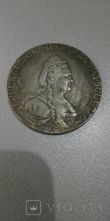 Рубль 1784 года СПБ-ММ, копия, фото №2