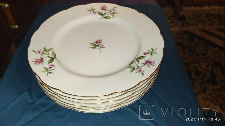 6 тарілок япанія фарфор, фото №12
