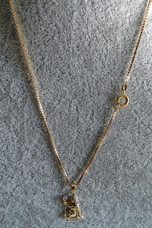 """Цепочка с подвеской """"Дева"""". Золото, бриллианты. Клейма., фото №3"""