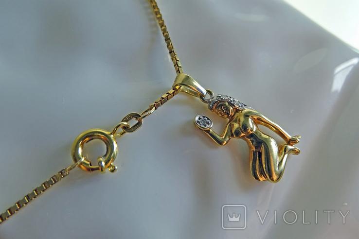 """Цепочка с подвеской """"Дева"""". Золото, бриллианты. Клейма., фото №8"""