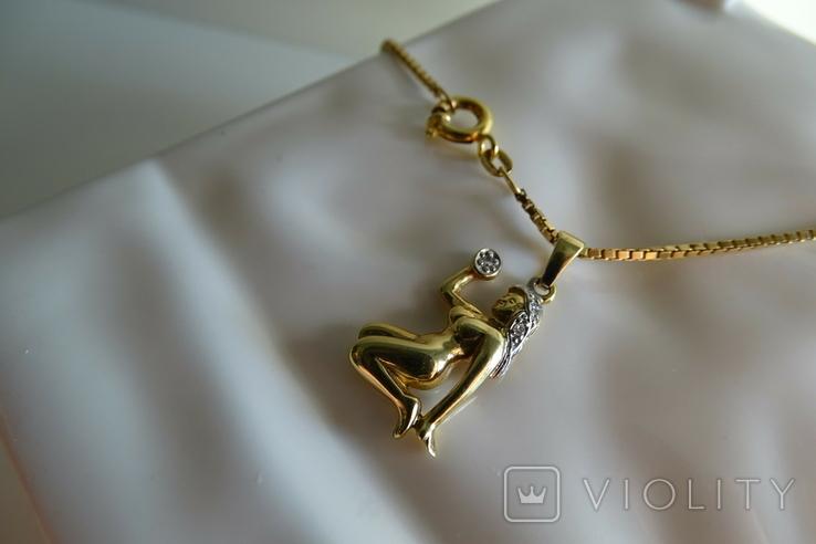 """Цепочка с подвеской """"Дева"""". Золото, бриллианты. Клейма., фото №9"""