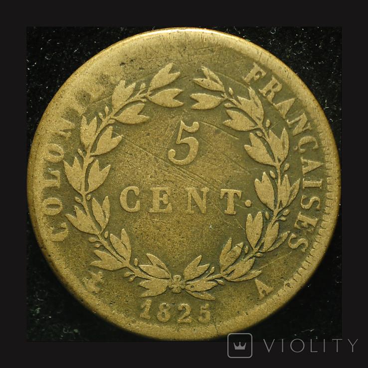 Французкая Гваделупа 5 центов 1825, фото №3