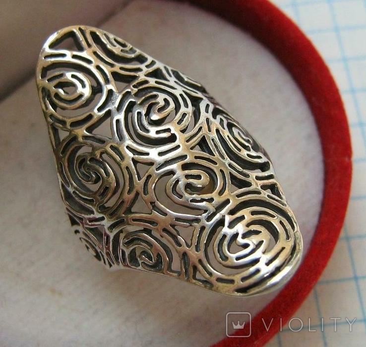 Серебряное Кольцо Размер 16.75 Серебро 925 проба 562, фото №2
