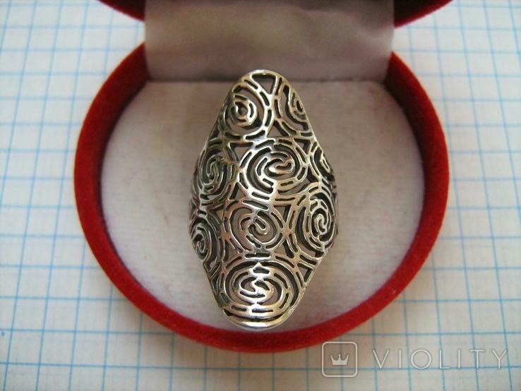 Серебряное Кольцо Размер 16.75 Серебро 925 проба 562, фото №3