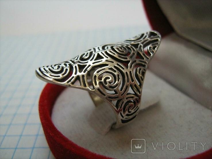 Серебряное Кольцо Размер 16.75 Серебро 925 проба 562, фото №4