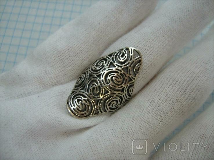 Серебряное Кольцо Размер 16.75 Серебро 925 проба 562, фото №8