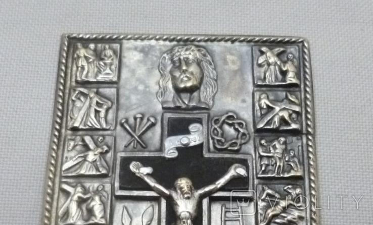 Старая икона с сюжетами., фото №5