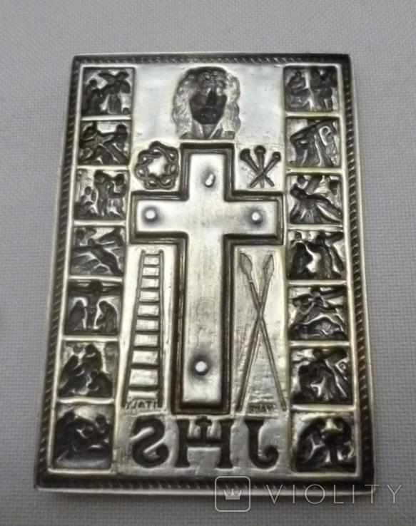 Старая икона с сюжетами., фото №6