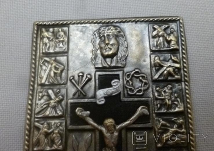 Старая икона с сюжетами., фото №9