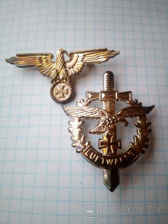 Знаки Вермахта и Люфтваффе с дефектом(реплика), фото №2