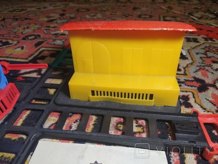 Железная дорога электромеханическая игрушка СССР. В коробке., фото №6