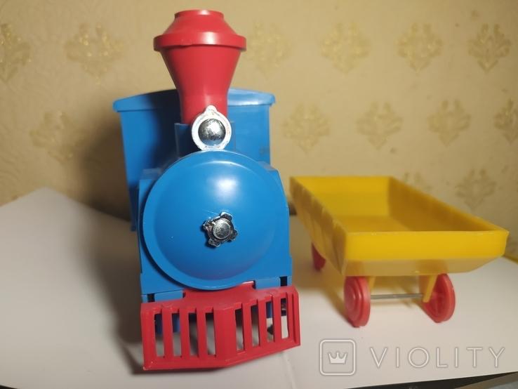 Железная дорога электромеханическая игрушка СССР. В коробке., фото №11