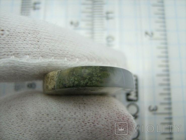 Натуральный пейзажный моховый агат. Индонезия. 164, фото №11
