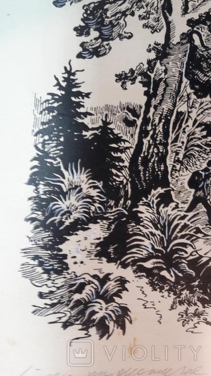 Неймарк Л. Літо туристичне 1983р. малюнок туш, фото №5