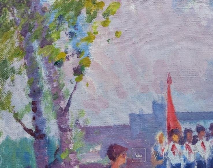 """В.Кнышевский """"На Болдиных горах"""",х.м.40х60см,1982г, фото №3"""