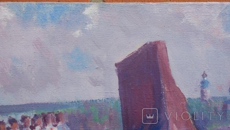 """В.Кнышевский """"На Болдиных горах"""",х.м.40х60см,1982г, фото №4"""
