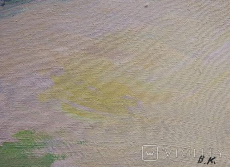 """В.Кнышевский """"На Болдиных горах"""",х.м.40х60см,1982г, фото №8"""