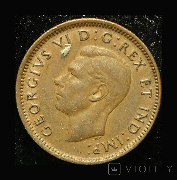 Канада цент 1945, фото №3