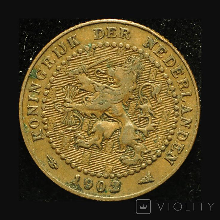 Нидерланды 1 цент 1902, фото №3