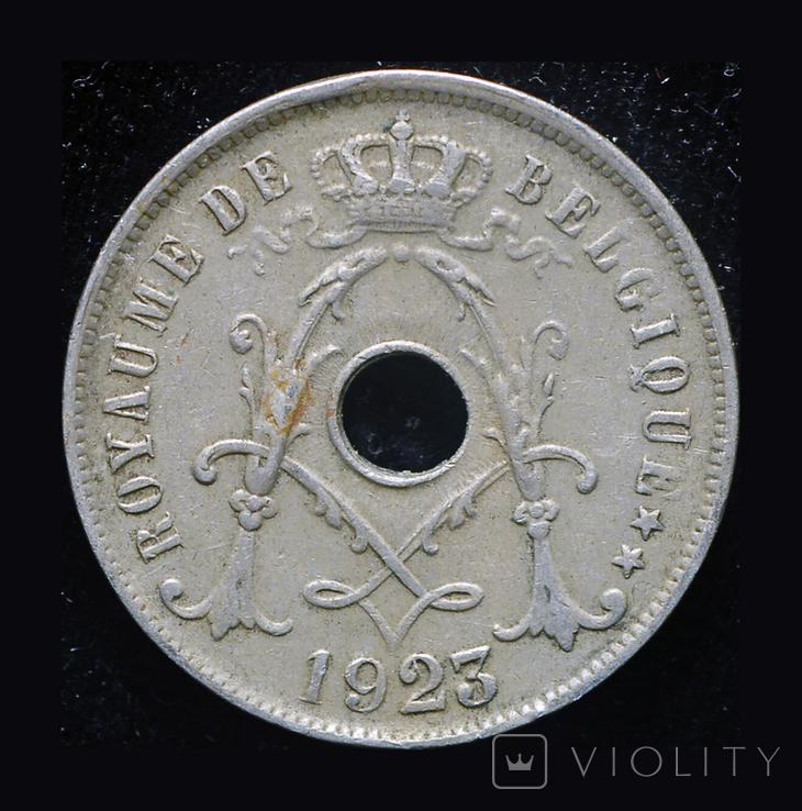 Бельгия 25 сантим 1923, фото №3