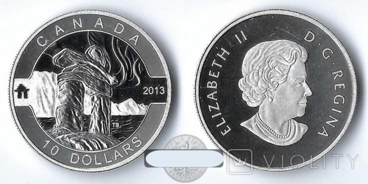 Канада 10 долларов 2013 Парк серебро Пруф