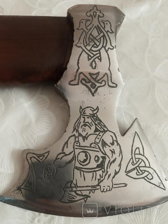 Топорик Вікінг Зроблений з нового кованого топора., фото №3