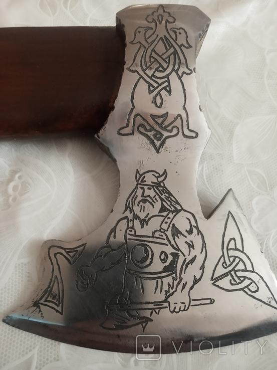 Топорик Вікінг Зроблений з нового кованого топора., фото №12