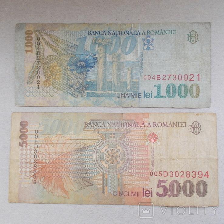 Румыния. 1000 и 5000 лей., фото №3