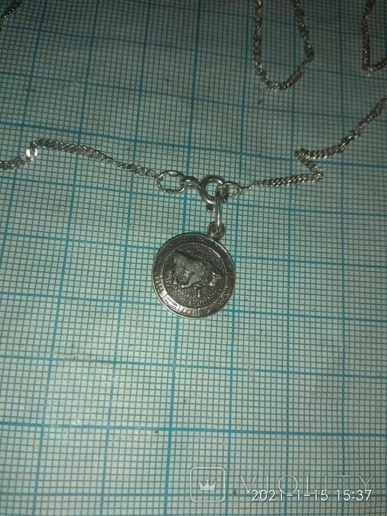 Серебряная цепочка с кулоном Телец, фото №7