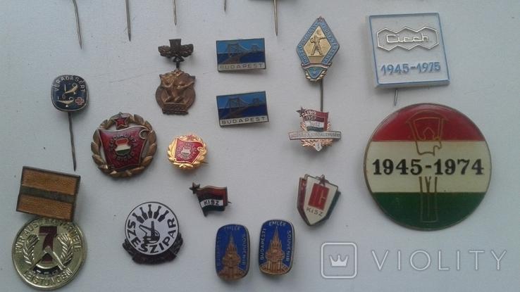 Знаки в тяжелом металле Венгрия старые .32 штуки, фото №3