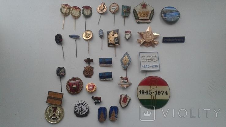 Знаки в тяжелом металле Венгрия старые .32 штуки, фото №6