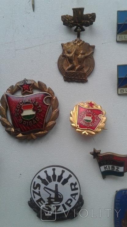 Знаки в тяжелом металле Венгрия старые .32 штуки, фото №7