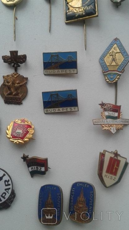 Знаки в тяжелом металле Венгрия старые .32 штуки, фото №10