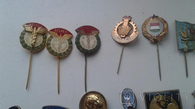 Знаки в тяжелом металле Венгрия старые .32 штуки, фото №11