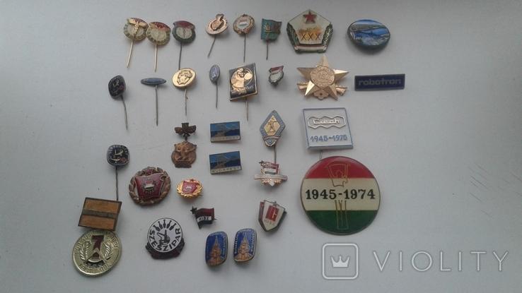 Знаки в тяжелом металле Венгрия старые .32 штуки, фото №13